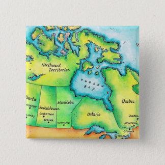 Map of Canada 15 Cm Square Badge