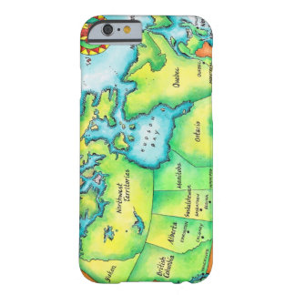 Map of Canada 2 Barely There iPhone 6 Case