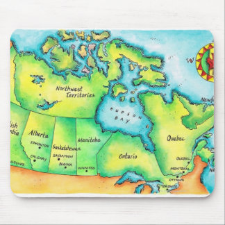 Map of Canada 2 Mouse Mat