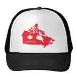 Map Of Canada Cap