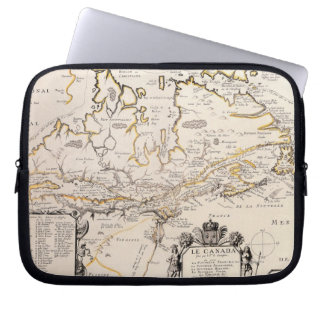 Map of Canada Computer Sleeves