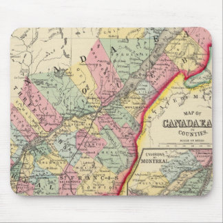 Map Of Canada East In Counties Mouse Pad
