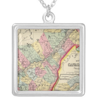 Map Of Canada East In Counties Silver Plated Necklace
