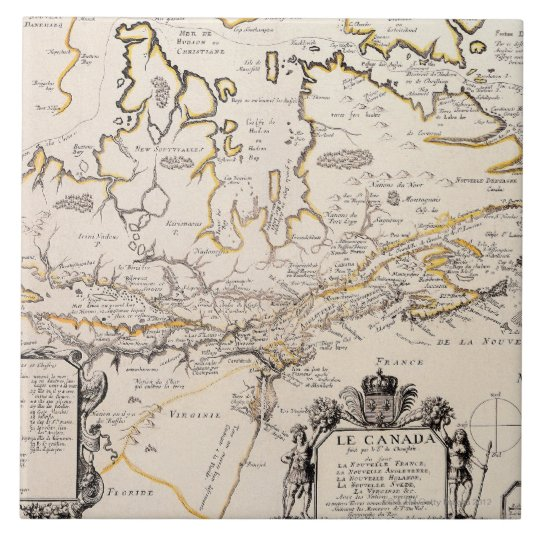 Map of Canada Large Square Tile