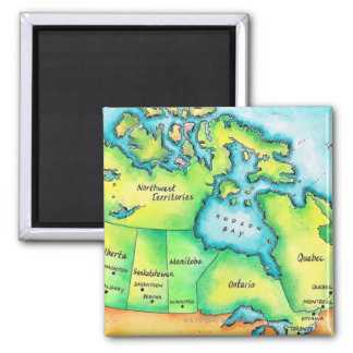 Map of Canada Magnet