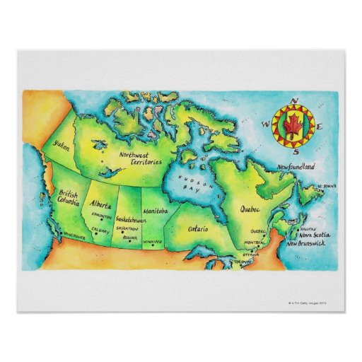 Map of Canada Poster