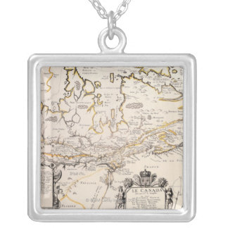 Map of Canada Silver Plated Necklace