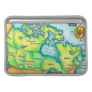 Map of Canada Sleeve For MacBook Air