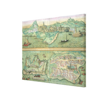 Map of Candia and Corfu, from 'Civitates Orbis Ter Canvas Print