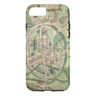 Map of Canterbury, from 'Civitates Orbis Terrarum' iPhone 8/7 Case
