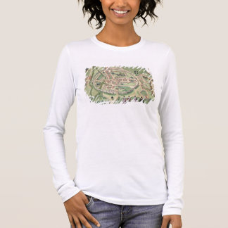 Map of Canterbury, from 'Civitates Orbis Terrarum' Long Sleeve T-Shirt