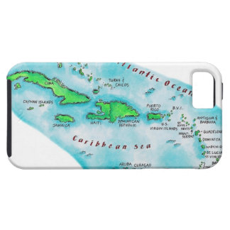 Map of Caribbean Islands iPhone 5 Cover