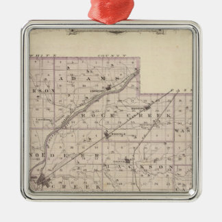 Map of Carroll County Christmas Ornament