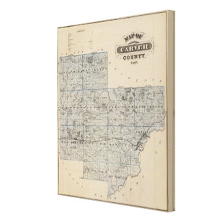 Map of Carver County, Minnesota Canvas Print