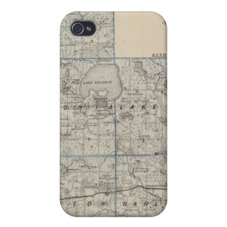 Map of Carver County, Minnesota iPhone 4 Cases