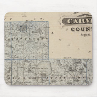 Map of Carver County, Minnesota Mouse Mat