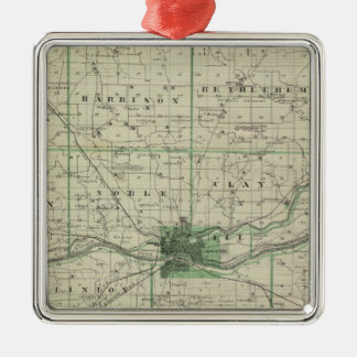 Map of Cass County Christmas Ornament