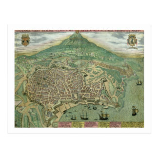 Map of Catania, from 'Civitates Orbis Terrarum' by Postcards