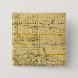 Map of Cedar County, State of Iowa 15 Cm Square Badge