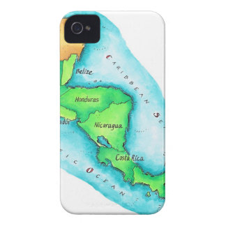 Map of Central America iPhone 4 Cases