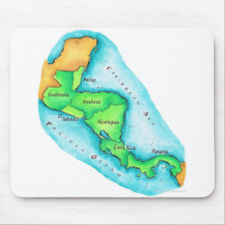 Map of Central America Mouse Pad