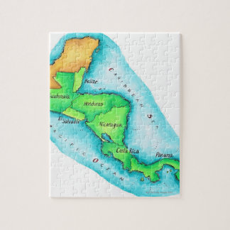 Map of Central America Puzzle