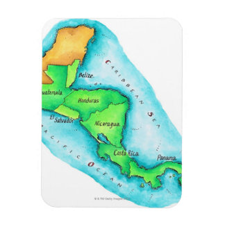Map of Central America Rectangular Photo Magnet