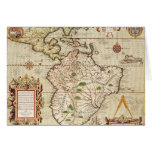 Map of Central and South America Greeting Card
