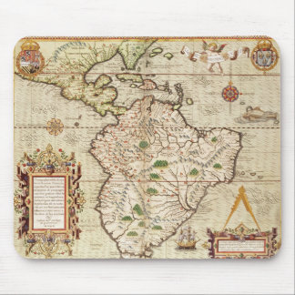 Map of Central and South America Mouse Mat