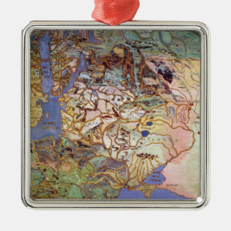 Map of Central Europe Christmas Ornament