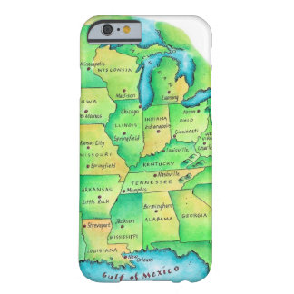 Map of Central United States Barely There iPhone 6 Case