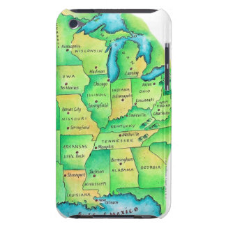 Map of Central United States Case-Mate iPod Touch Case