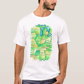 Map of Central United States T-Shirt
