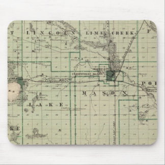 Map of Cerro Gordo County, State of Iowa Mouse Mat