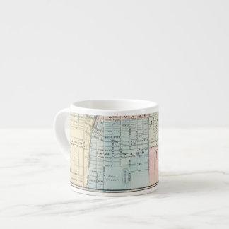 Map of Champaign, Urbana, Mattoon and Charleston Espresso Cup