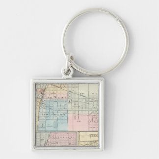 Map of Champaign, Urbana, Mattoon and Charleston Key Ring