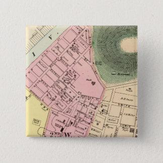 Map of Charleston, West Virginia 15 Cm Square Badge