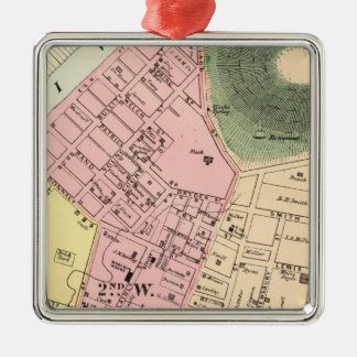 Map of Charleston, West Virginia Christmas Ornament