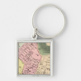 Map of Charleston, West Virginia Key Ring