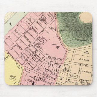 Map of Charleston, West Virginia Mouse Mat