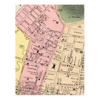 Map of Charleston, West Virginia Postcard
