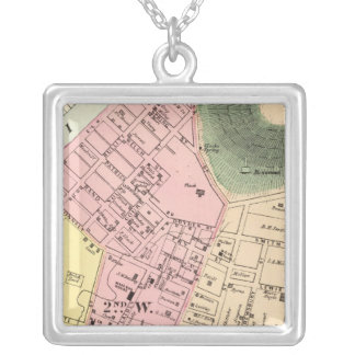 Map of Charleston, West Virginia Silver Plated Necklace