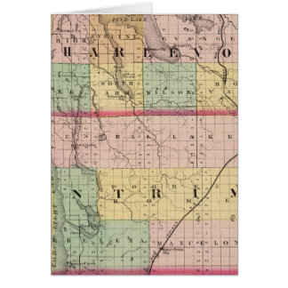 Map of Charlevoix and Antrim counties, Michigan Card