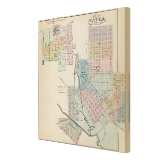 Map of Chatfield, Map of Caledonia, Minn Canvas Print