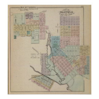 Map of Chatfield, Map of Caledonia, Minn Poster