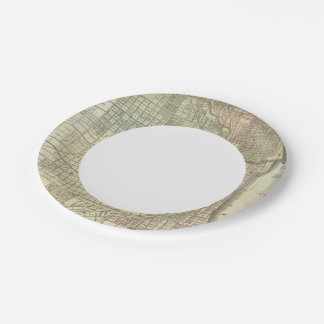 Map Of Chicago 7 Inch Paper Plate