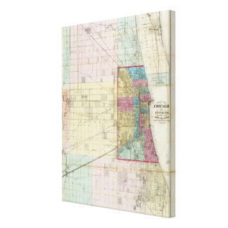 Map of Chicago Canvas Print