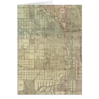 Map Of Chicago Card