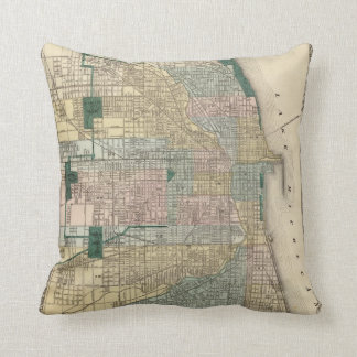 Map of Chicago City Cushion