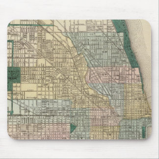 Map of Chicago City Mouse Pad